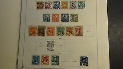 Ecuador 2...  classics stamp collection on Scott Int'l  pages to 1969