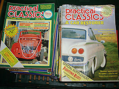 """Huge collection of 133 """"PRACTICAL CLASSICS"""" Car magazines"""