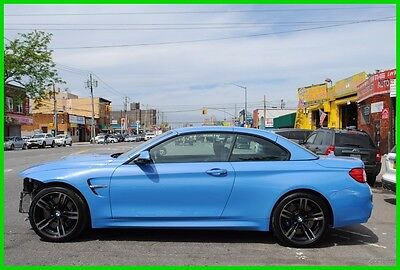 2016 BMW M4  Conertible M4 Loaded $87,295 MSRP Repairable Rebuildable Salvage Wrecked EZ Fix