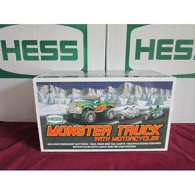 Hess 2007 Monster Truck w/ 2 Motorcycles New