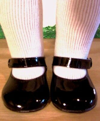 """BLACK PATENT SHOES Fits 18"""" American Girl Doll, 18 Inch Dolls"""