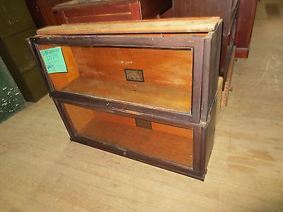 ANTIQUE Globe Wernicke Co. C11-299. Stackable bookcase. TWO SECTIONS. perfect.