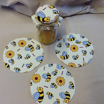 JAM covers HONEY PACK  includes bands sticky labels & twine x 6