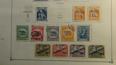 Fiume classics stamp collection on Scott Int'l  pages to 1923
