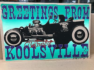"Signed Von Franco ""greetings From Koolsville"" 17"" X 11"""