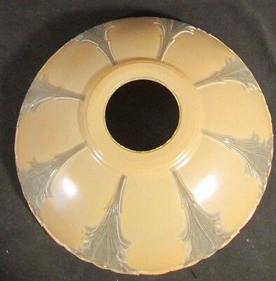 1930s ART DECO Peach or Cream Colored Frosted TORCHERE Floor Lamp Shade Nice!