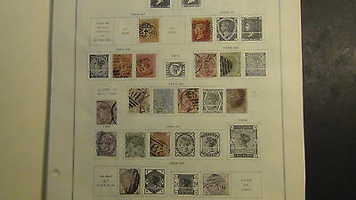 Great Britain stamp collection on Scott Int'l  pages to '70