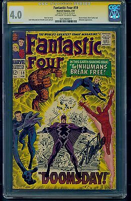 Fantastic Four #59 (1967) CGC Signature Series Graded 4.0 ~ Signed by Stan Lee