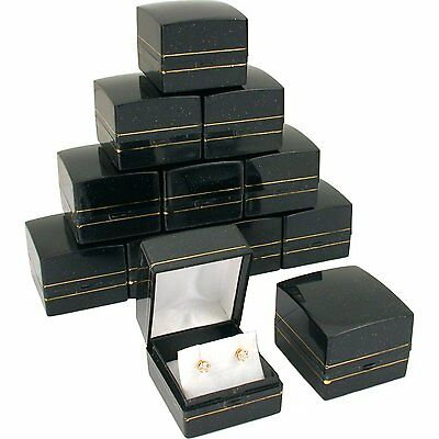 12 Black Gold Sparkle Earring Classy Gift Jewelry Boxes