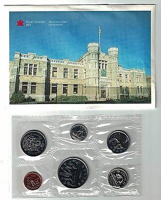 Canada 1987 Proof Like Set Six Coin Set With Last Voyageur Nickel Dollar