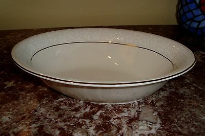 """PICKARD Made in USA  BROCADE  9-3/4"""" Oval Vegetable Bowl with Platinum Trim"""
