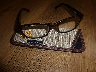 Foster Grant Ophelia Reading Glasses +2.50 Brand New w/ Case Magnivision