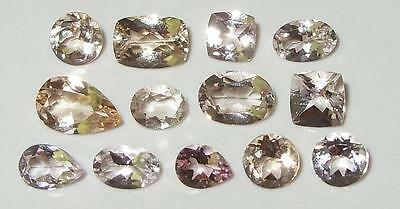 6.14ct LOT 13pc ASSORTED NATURAL BRAZIL MORGANITE SPECIAL