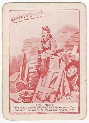 Playing Cards Single Swap - Antique Wide Bairnsfather WW1 Military Army THE NEST