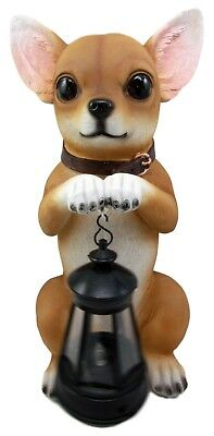 This Little Light Of Mine Shines Chihuahua Dog Solar LED Lantern Light Statue