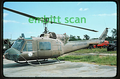 Original Slide, New York Army National Guard 42nd AB Bell UH-1B Iroquois, 1976