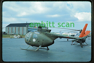 Original Slide, New York Army National Guard 42nd AB Hughes OH-6A Cayuse, 1976