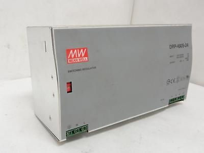 160070 Used, Meanwell DRP-480S-24 DIN Rail Power Supply, 480W, 24V, 20A