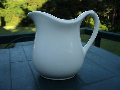 "Antique  ""W S GEORGE""   Ironstone White Pitcher - Excellent Condition"