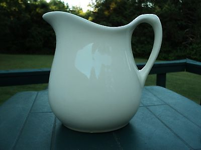 "Antique - Ironstone White Pitcher - Excellent Condition - - 6.5"" TALL"