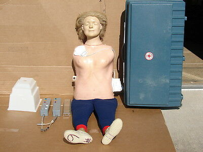 Laerdal Recording Resusci Anne Full Body CPR Mannequin Manikin w/ Hard Case