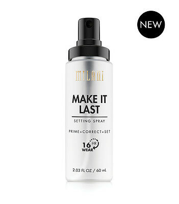 MILANI Make It Last Setting Spray Prime + Correct + Set 60mL NEW