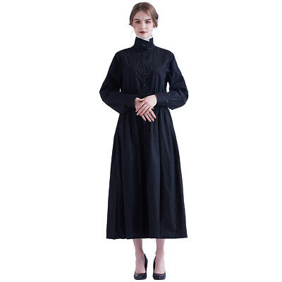 Victorian Edwardian Housekeeper Cosplay Servant Walking Dress Maid Apron Costume