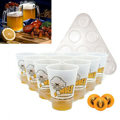 Beer Pong Drinking Game Set Kit 20 Cups 3 Balls 2 Racks Party Xmas Pub BBQ Toy