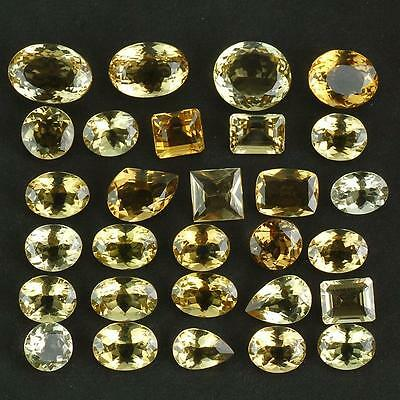 VVS 169 Cts/29 Pcs Breathtaking Lusture Untreated Nautral Golden Citrines