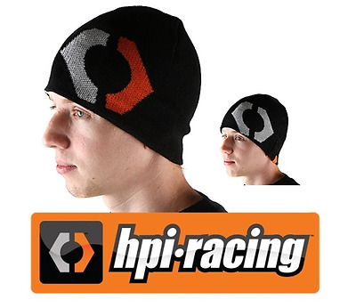 HPI 107676 Official Winter Beanie Hat Black Reversible