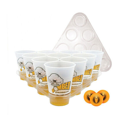 20 Cups 3 Balls 2 Racks Set Kit Beer Pong Drinking Game Xmas Party Pub BBQ Toys