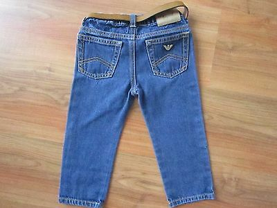 BABY Boys AUTHENTIC Blue ARMANI Jeans (18 months) *NICE COND*