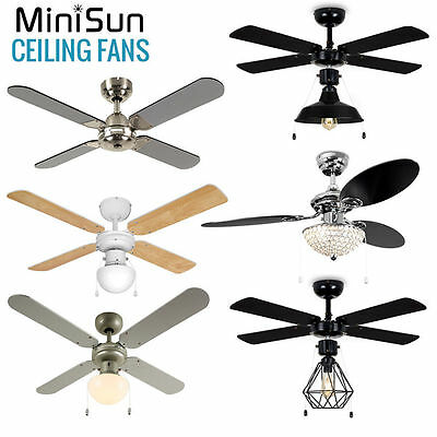 MiniSun Ceiling Fan Modern Traditional 42 Inch Cooling Home with Lights Remote