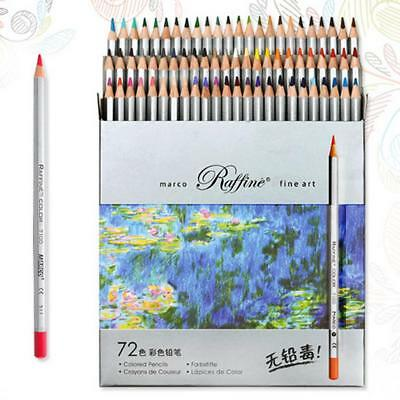 72 Assorted Colored Pencil Set Water Color Pencils Fine Art Sketch Drawing