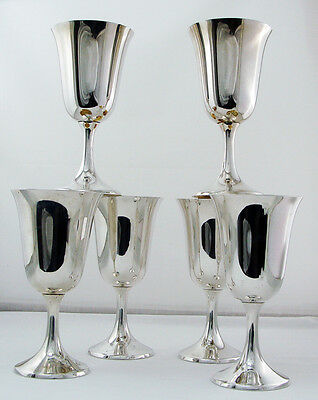 Water Goblets by Manchester Sterling Silver No.808, No Mono