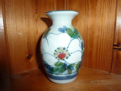 Scottish Highland Stoneware Small Vase Flower Design Lovely Piece Perfect 5 Inch
