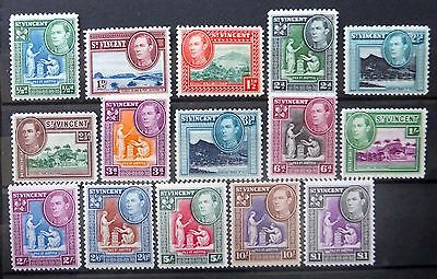 St VINCENT 1938/47 G.VI to £1 SG149 to 159 Mounted Mint NB1241