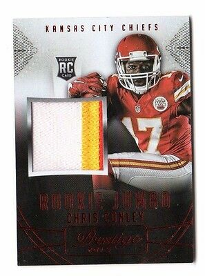 Chris Conley Nfl 2015 Prestige Rookie Jumbo Jerseys Patch Red (Chiefs)