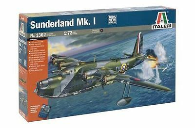 Italeri Model Kit - Sunderland Mk1 Plane - 1:72 Scale - 1302 - New