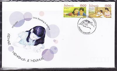 Indonesia 2007 - Love Reading &  Writing  First Day Cover