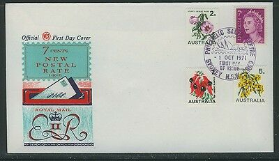 """Australia """"WCS"""" 1971 - New Rate - First day Cover - Sydney Cancel Unaddressed"""