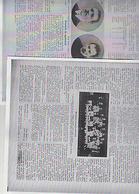 Manchester Utd  Friendly Matches May 1908 In  Budapest Unusual Items Pre & Rev