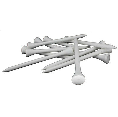 1000 White Wooden 55mm 2 1/8 Golf Tees