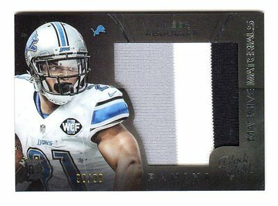 Ameer Abdullah Nfl 2015 Black Gold Massive Materials White Gold #/99 (Lions)