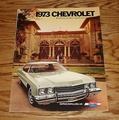 Original 1973 Chevrolet Full Size Car Sales Brochure 73 Chevy Caprice Impala