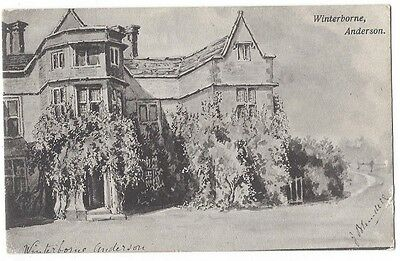 WINTERBORNE ANDERSON Dorset, Old Postcard Postally Used 1910