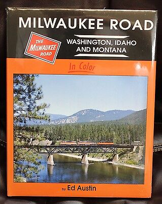 MORNING SUN BOOKS - MILWAUKEE ROAD In Color - Wash., Idaho & Mont - HC 128 Pages
