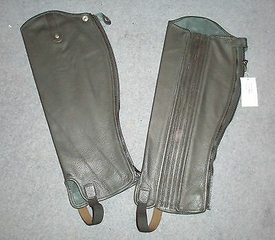 "Eqvvs Black The English Gaiter Company - 'Softy' Leather Gaiters 19.5"" Tall"