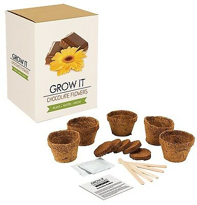 Reduced Gift Republic Grow It Kit Grow Your Own Chocolate Scented Flowers Gift
