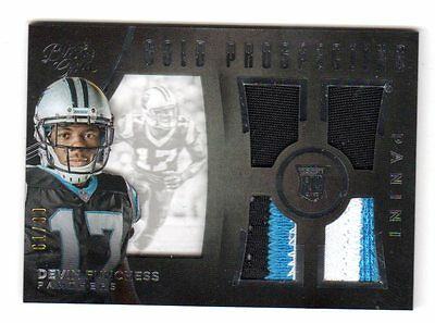 Devin Funchess Nfl 2015 Black Gold  Prospecting Quad Material White  (Panthers